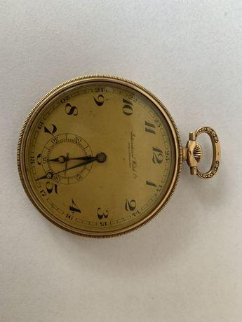Złoty zegarek kieszonkowy International Watch. W pełni sprawny!.