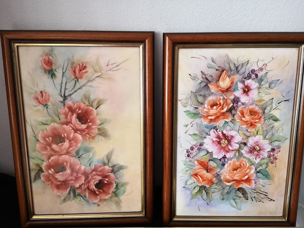 Quadros pintados à mão