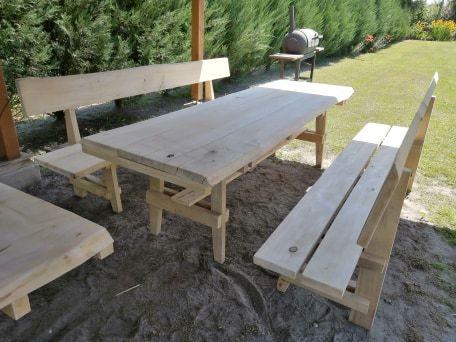 ławki zestaw ogrodowy grillowy barowy stolik stół altanka