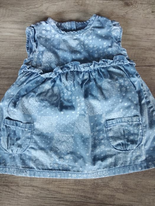 Sukienka jeansowa błękitna 0-3 Tychy - image 1