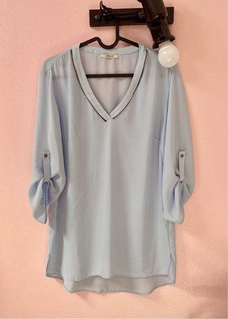 Collezione   blusa tunica azul clara chiffon (L)