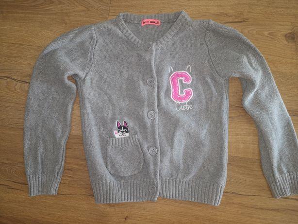 Cool Club sweter 122 kotek szary 116