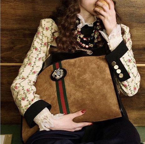 Продам сумку шкіряну Gucci Rajah