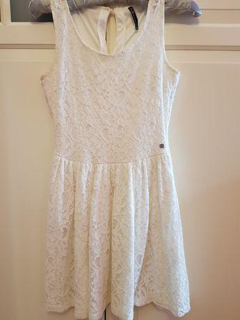 Sukienka letnia XS biała koronkowa