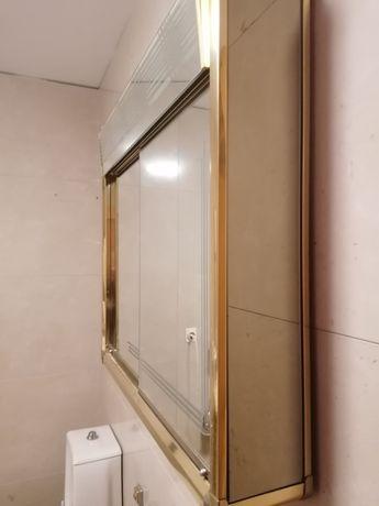 Eslho casa de banho com luz+arrumação +tomada