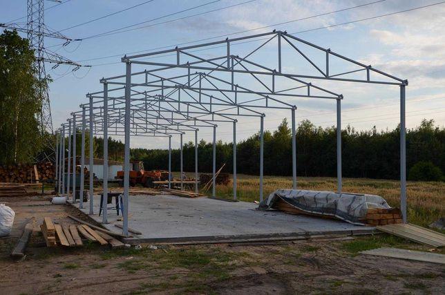 Konstrukcja Stalowa Wiaty Hali Garaż Magazyn 20x9m