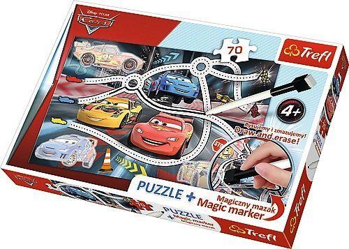 Puzzle trefl cars auta 70 el. + pisak 75110