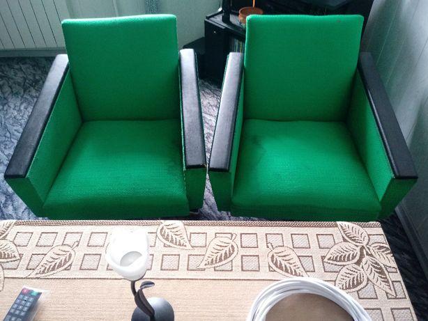 Fotel stół patyczak PRL