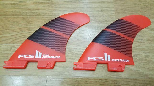 Quilhas FCS 2 Accelerator central e esquerda
