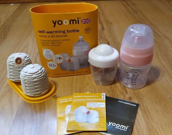 YOOMI zestaw butelka 140ml, podgrzewacz 2szt i pojemnik