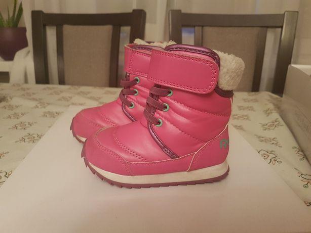 Buty zimowe dzieciece Reebok rozm 22 rozowe ortholite