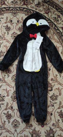 Новый кигуруми пингвинчик, тёплый костюм, комбинезон, пижама George