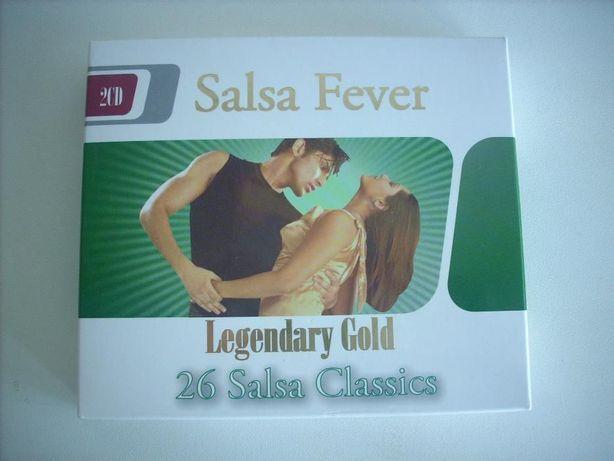 Caixa com 2 CD's Salsa Fever - Legendary Gold 26 Salsa Classics