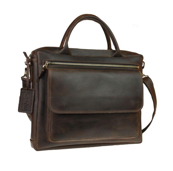 Кожаная мужская сумка А4 под ноутбук натуральная кожа ручная работа Козелец - изображение 1
