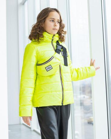 Весенняя куртка для девочки + бананка.