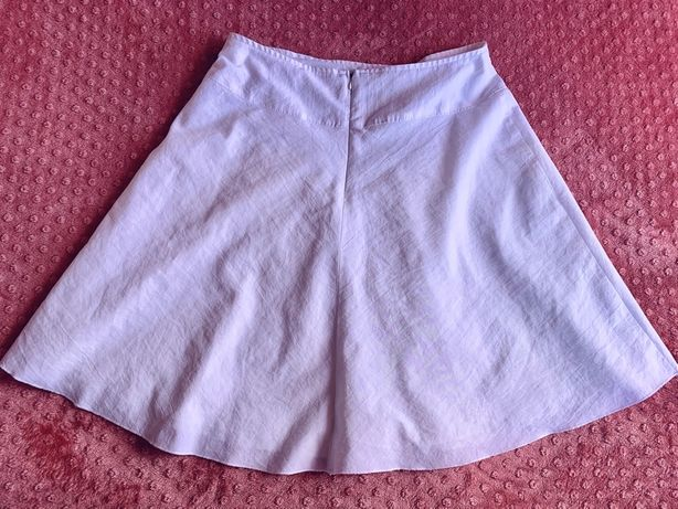 Белая юбка солнцеклеш