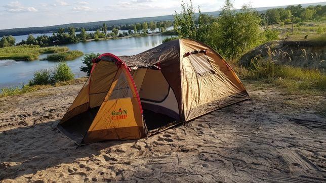 Премиум палатка трехместная  GreenCamp 1504