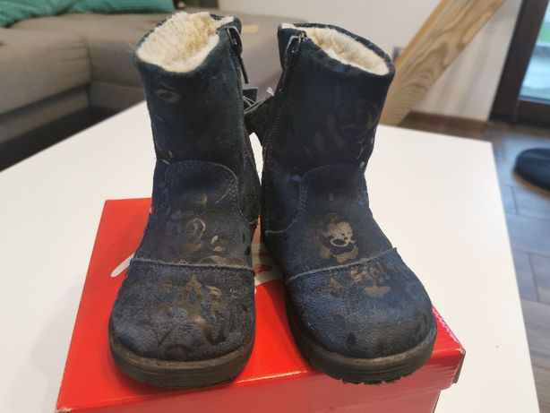 Buty zimowe kozaki Emel dla dziewczynki rozmiar 22