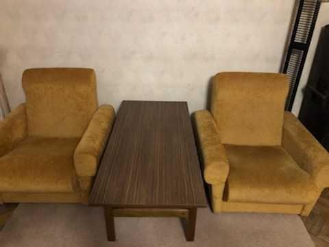 Fotel duży, żółty