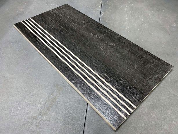Drewnopodobne płytki na schody,schody szary/grafit NAJTANIEJ
