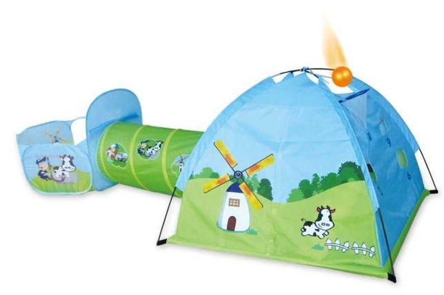 Zestaw 3W1 Farma Namiot Tunel Plac Zabaw Samorozkładający