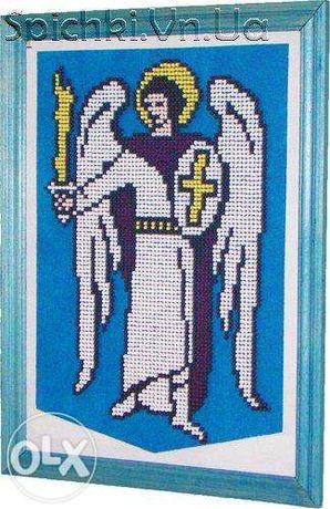 Герб міста Києва - Об'ємна робота з сірників виконана вручну!