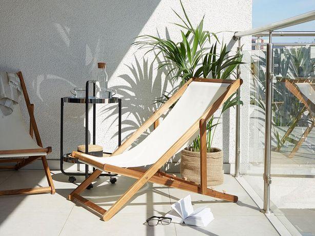 Cadeira de jardim dobrável em madeira de acácia clara ANZIO - Beliani