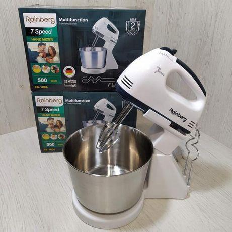Кухонный Миксер ручной Rainberg 1006 с металлической чашей блендер кух