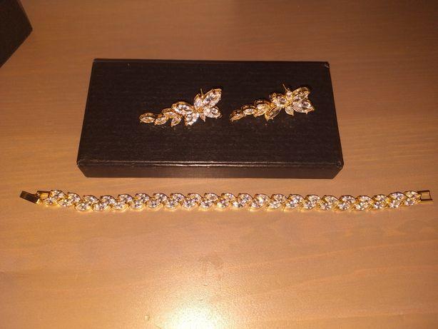 Biżuteria ślub kolczyki bransoletka