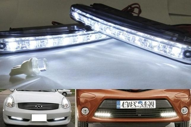 Kit Luzes diurnas DRL auto 2 x 8 LED