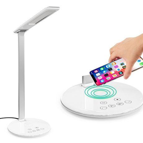 Smart LED лампа настольная с беспроводной зарядкой Qi.