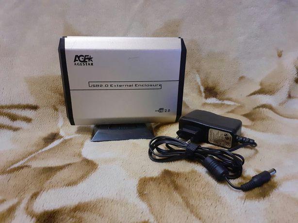 Внешний жесткий диск AgeStar usb 2.0  вместе с жестким диском 500GB.