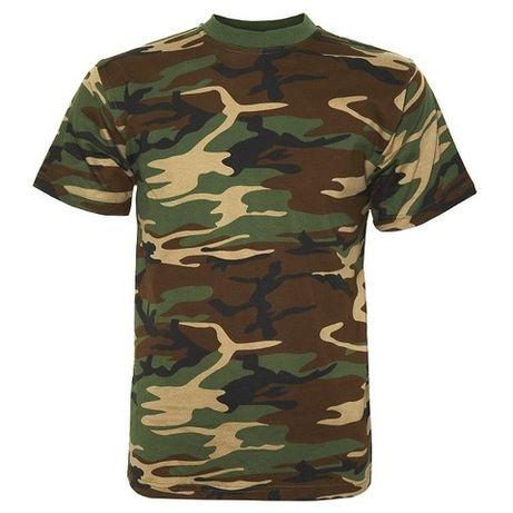 T-Shirt Fostee Camuflada -Cor Camuflagem Militar -Nova