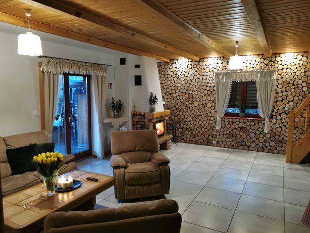Dom przy jeziorze pod lasem, 7 pokoi, 6 łazienek, kominek