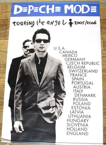 Depeche Mode posters oficiais tournée 2006 Touring the Angel