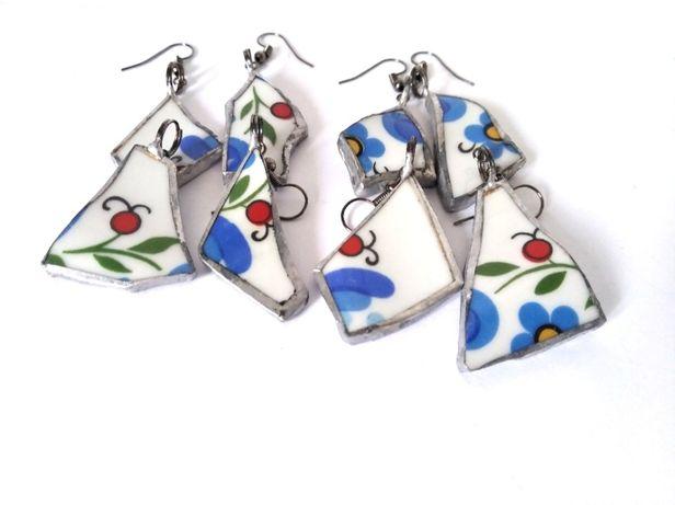 Biżuteria motyw kaszubski porcelana lubiany eko-biżuteria