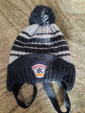 Тёплая шапка на 1-2 года