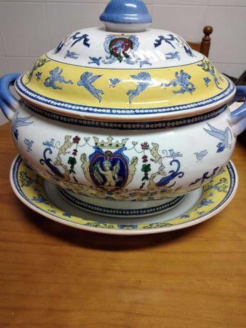 Terrina chinesa, antiga - peça de decoração