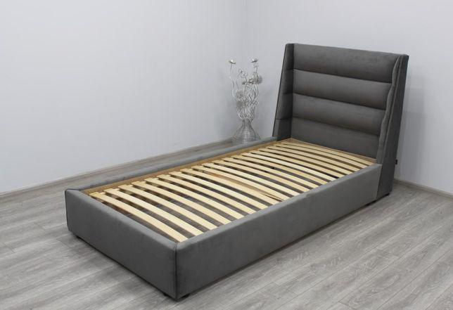 Дитяче ліжко 200×80см, детская кровать велюр, кутове дитяче ліжко
