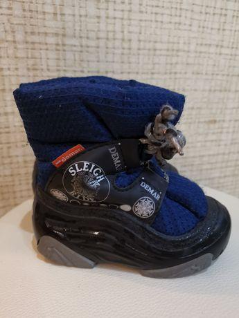 Сапоги демари, зимние ботинки Demar 22-23. Синие