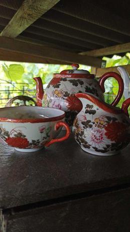 Komplet kawowy stary porcelanowy
