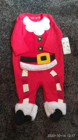 Pajac ubranko Mikołaj dla niemowlaka