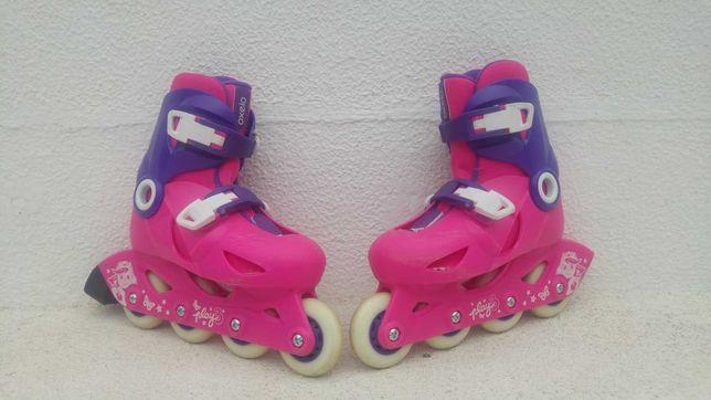 Patins em linha de criança Play3 rosa violeta, tamanho 28,29,30