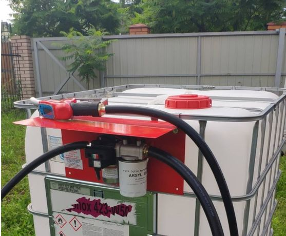 Мини Заправка для перекачки дизельного топлива. Мини АЗС , еврокуб АЗС