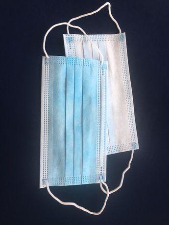 Maseczka ochronna maseczki ochronne jednorazowe 3 warstwy drucik gumki