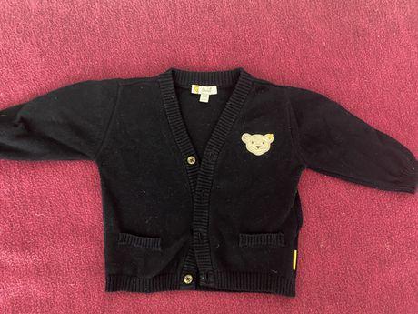 Granatowy rozpinany swetet Steiff roz.68