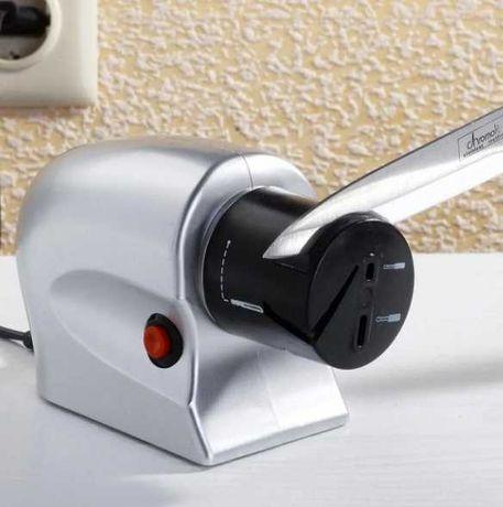 Точилка для ножей и ножниц Электрическая Sharpener Silver