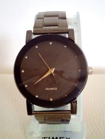 NOWY męski zegarek metalowy czarna bransoleta i koperta noname