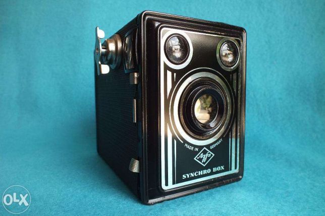 Kolekcjonerski Zabytek muzealny! aparat Agfa Synchro Box + futerał