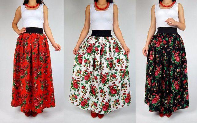 MAXI spódnica GÓRALSKA folkowa ludowa spódniczka Cleo PRODUCENT